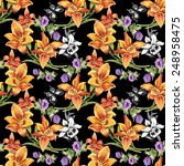 colorful seamless floral... | Shutterstock . vector #248958475