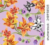 colorful seamless floral... | Shutterstock . vector #248958535