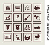 childhood icons | Shutterstock .eps vector #248959621