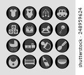 childhood icons | Shutterstock .eps vector #248959624