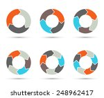 vector circle arrows set for... | Shutterstock .eps vector #248962417
