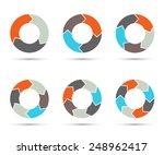 vector circle arrows set for... | Shutterstock .eps vector #248962417
