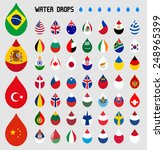 selected world flag collection  ...   Shutterstock .eps vector #248965399