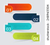 vector colorful info graphics... | Shutterstock .eps vector #248965504