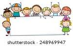 sketch children and banner | Shutterstock .eps vector #248969947