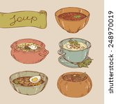 hand drawn vector illustrations.... | Shutterstock .eps vector #248970019