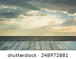 Wooden Floor With Cloud In The...