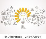 idea loading. business icons... | Shutterstock .eps vector #248973994