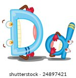 Illustration Of Of The Letter D