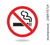 no smoking sign and symbol  | Shutterstock .eps vector #248975719
