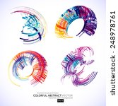 abstract 3d icon set with color ... | Shutterstock .eps vector #248978761