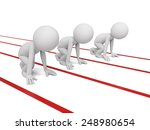 three 3d small people on a... | Shutterstock . vector #248980654