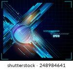 futuristic 3d abstract design. | Shutterstock .eps vector #248984641