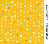 hand drawn pastel dot pattern  | Shutterstock .eps vector #248987995