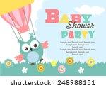 baby shower invitation card | Shutterstock .eps vector #248988151