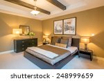 modern bright bedroom interior... | Shutterstock . vector #248999659
