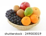 fresh fruits in a basket | Shutterstock . vector #249003019