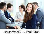 business woman with her staff ... | Shutterstock . vector #249010804