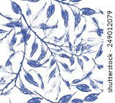 Blue Leaves Texture Pattern...