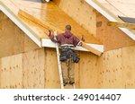 construction crew working on... | Shutterstock . vector #249014407