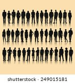 vector of business silhouettes | Shutterstock .eps vector #249015181