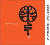 creative brain concept  design... | Shutterstock .eps vector #249015565