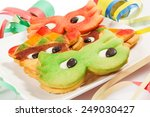 carnival cookies on the white... | Shutterstock . vector #249030427