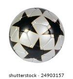 silver soccer ball on a white...   Shutterstock . vector #24903157