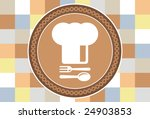 chef's hat   with spoon and fork   Shutterstock .eps vector #24903853