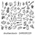 big hand drawn doodle healthy...   Shutterstock .eps vector #249039229