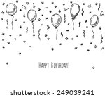 hand drawn party background... | Shutterstock .eps vector #249039241