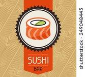 Background With Sushi. Japanes...