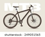 Mtb Bicycle Isolated And...