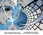 Abstract Digital Futuristic...