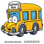 Vector illustration of School bus - stock vector