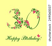 happy birthday card.... | Shutterstock . vector #249060037
