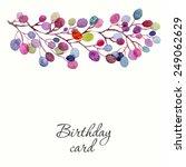invitation. wedding or birthday ... | Shutterstock .eps vector #249062629