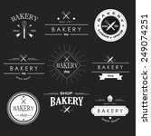 retro bakery logotypes badges... | Shutterstock .eps vector #249074251