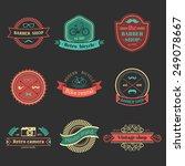 vector set of vintage hipster...   Shutterstock .eps vector #249078667