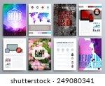 set of design templates for... | Shutterstock .eps vector #249080341