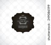 vintage black and white... | Shutterstock .eps vector #249086599