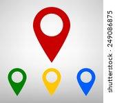 mark icon  pointer. vector... | Shutterstock .eps vector #249086875