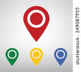 map pointer with information... | Shutterstock .eps vector #249087955