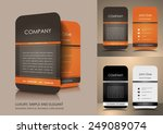 rounded business card | Shutterstock .eps vector #249089074