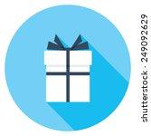 gift box flat icon. modern...