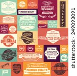 collection of vintage retro... | Shutterstock .eps vector #249093091