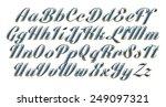 3d dark blue uppercase and... | Shutterstock . vector #249097321