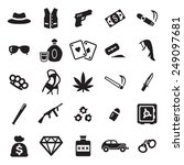gangster icons  | Shutterstock .eps vector #249097681
