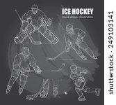 illustration of ice hockey.... | Shutterstock .eps vector #249103141