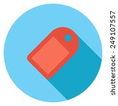 tag flat icon. modern flat...   Shutterstock .eps vector #249107557